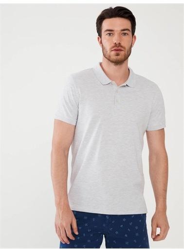 MCL MCL Polo Yaka Pamuklu Slim Fit Basic Tişört Beyaz